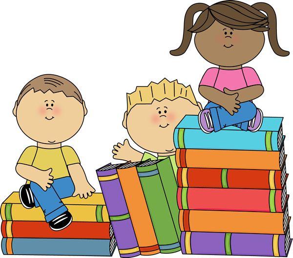 Book children's. Free clipart children reading