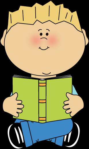 Books kid. Free clipart children reading
