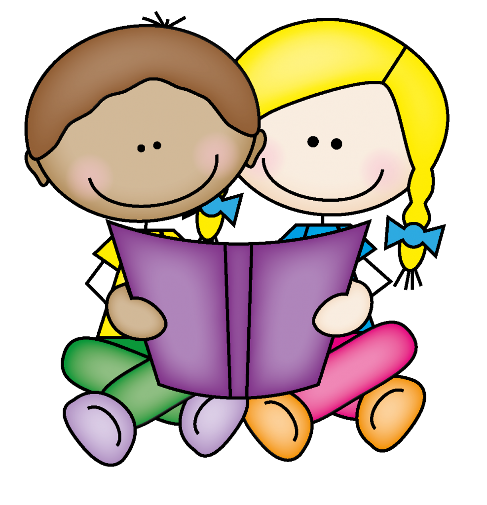 Baby reading. Free clipart children books