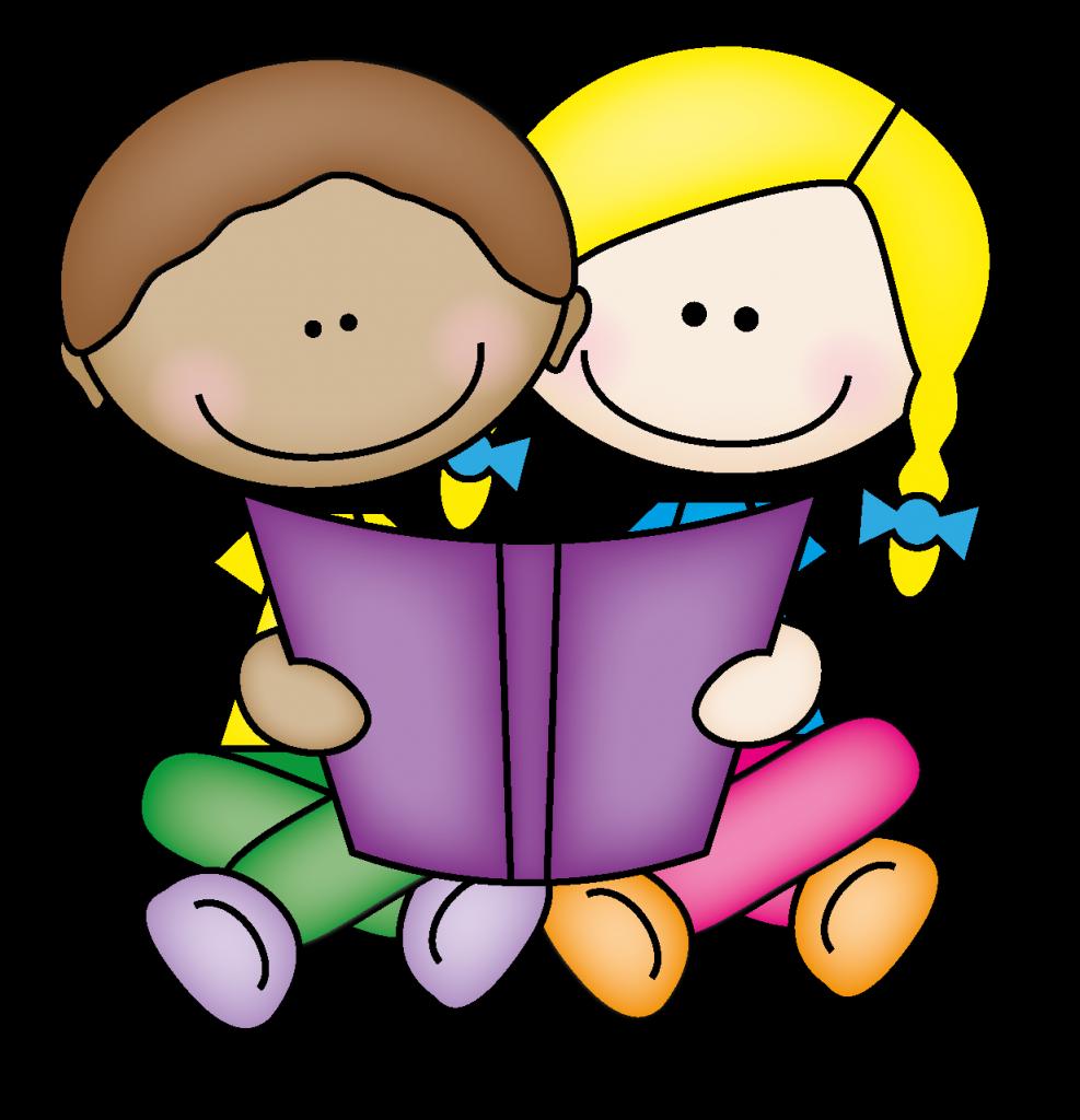 School reading. Free clipart children books