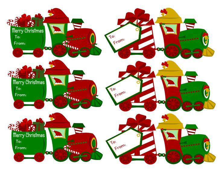 Christmas Name Tags: Free Clipart Christmas Gift Tags