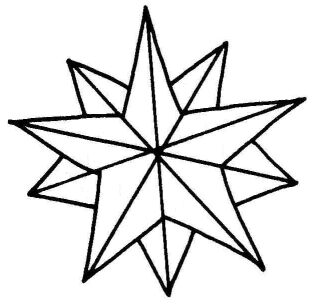 314x305 Christmas Star Outline Clipart