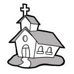 150x150 Free Church Clipart Black And White Church Bulletin Clip Art Black