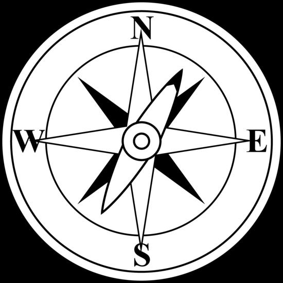550x550 Compass Clip Art Black And White Danaami2 Top 2