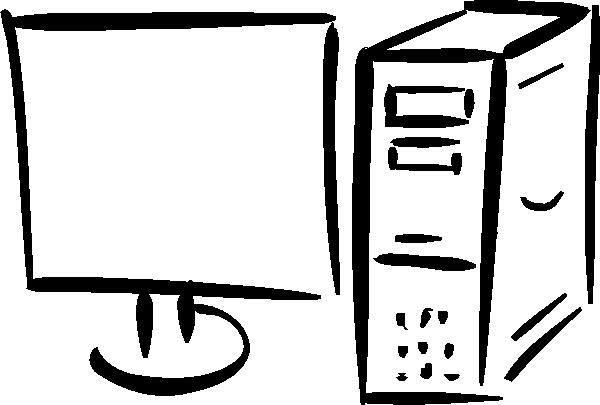 600x405 Fortran Minimalist Monitor And Computer Clip Art Free Vector 4vector