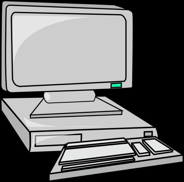 600x593 Free Desktop Computer Clipart Image
