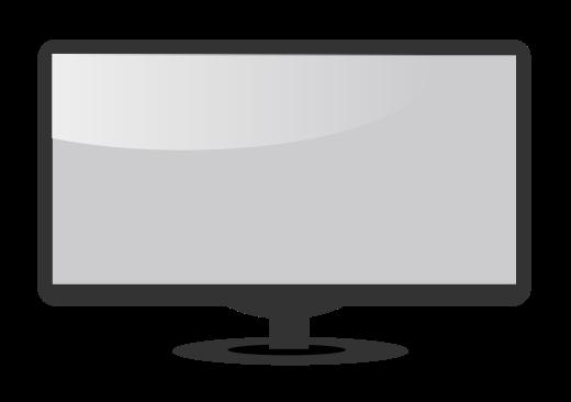 520x366 Computer Monitor Blank Clip Art