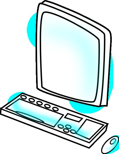 462x597 Computer Clip Art Free Vector 4vector