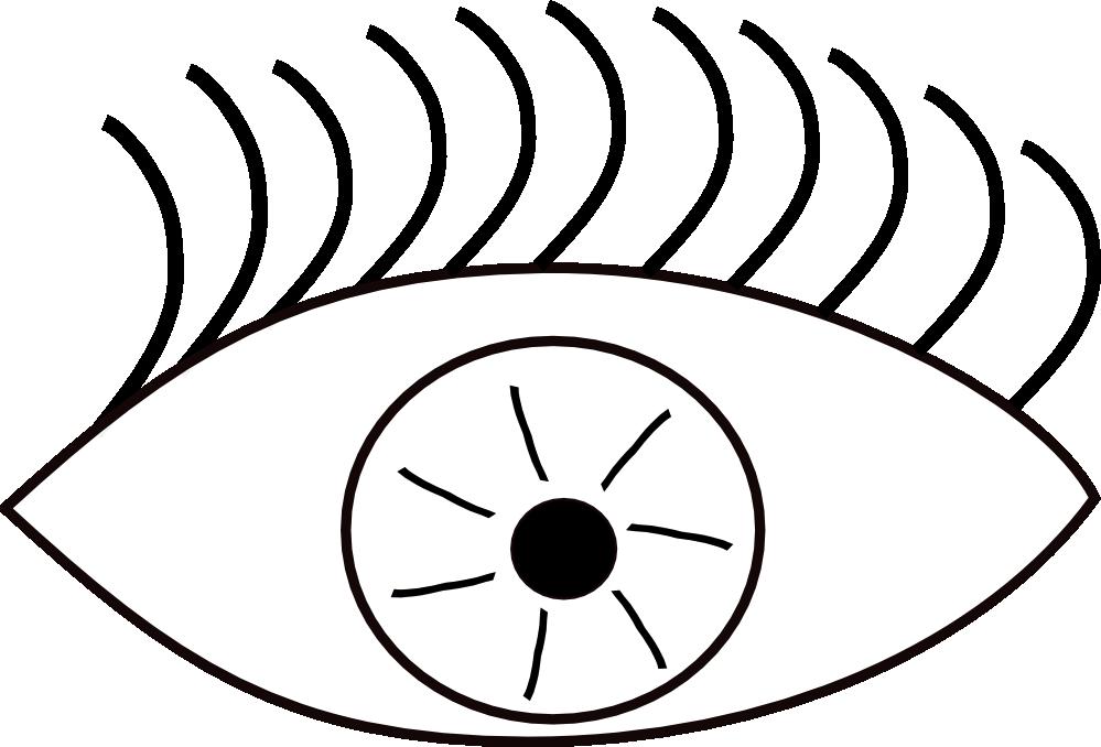 999x678 Eyeball Clipart Drawn