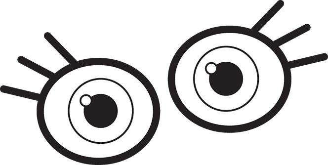 664x334 Eyeball Eye Clip Art For Kids Free Clipart Images Image