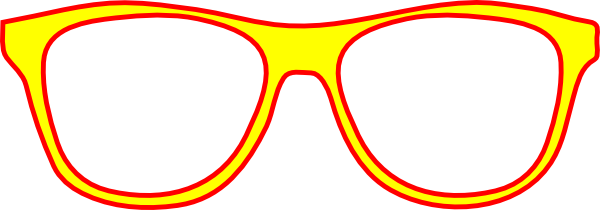 600x210 Yellow Glasses Frame Front Clip Art