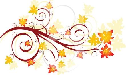 441x263 Autumn Leaves Clip Art