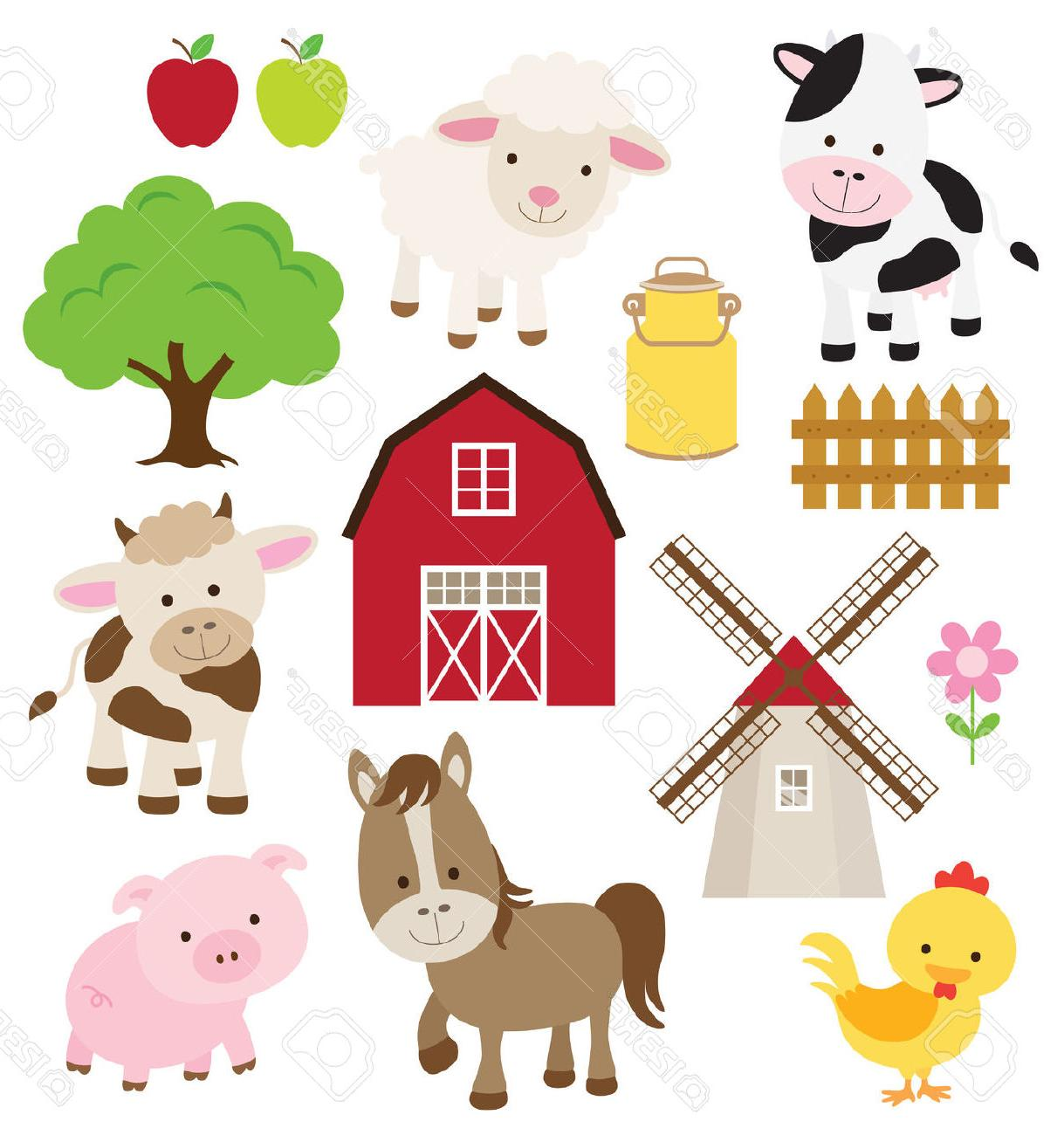 1219x1300 Best Free Vector Illustration Of Farm Animals And Related Items