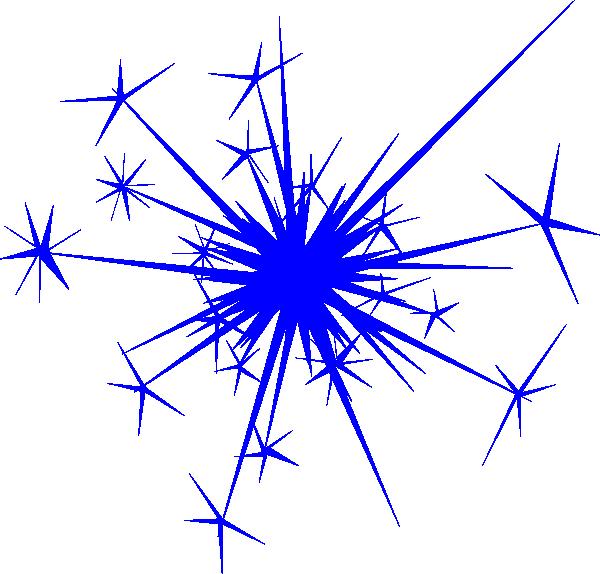 600x574 Cracker Clipart Blue Firework