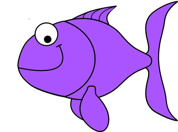 600x446 Purple Fish Clip Art