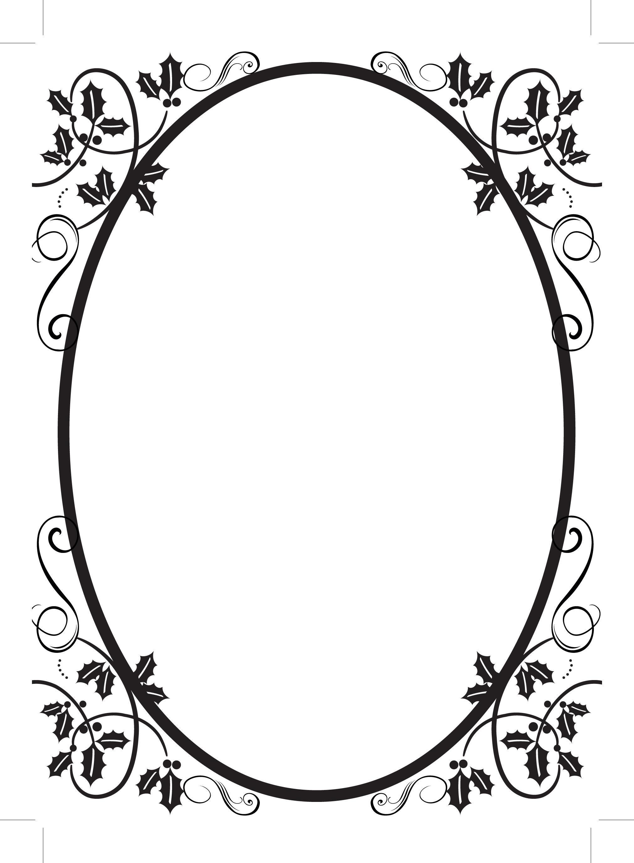 2023x2755 Flourish Frames Clipart