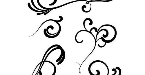 500x260 Swirl Clipart Silhouette