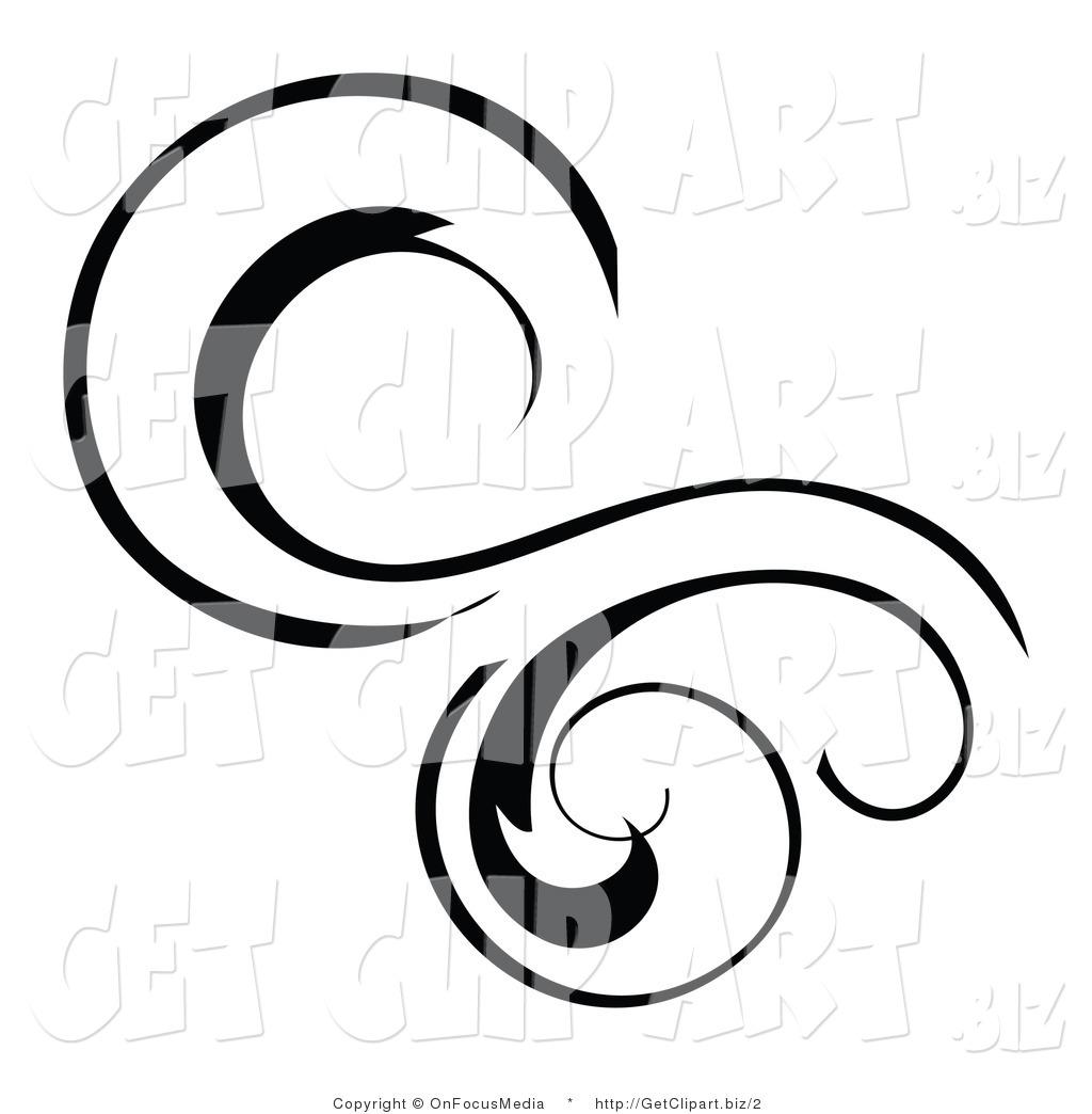 1024x1044 Vector Clip Art Of A Swirl Flourish By Onfocusmedia