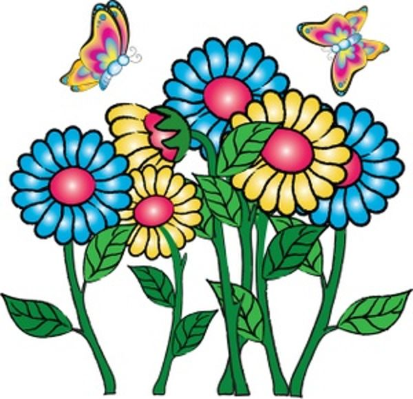 600x580 Free Clip Art Graphics Flowers Free Flower Clipart Cards