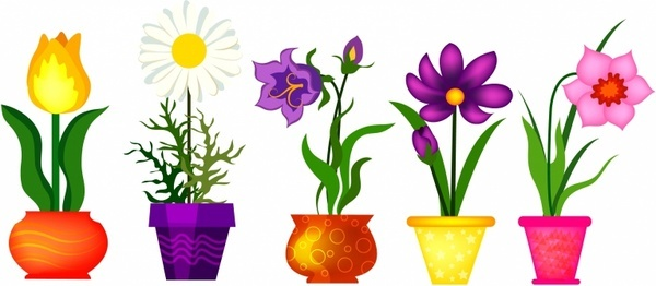 600x262 Homely Idea Clip Art Flowers Spring Free Vector Download 212 680
