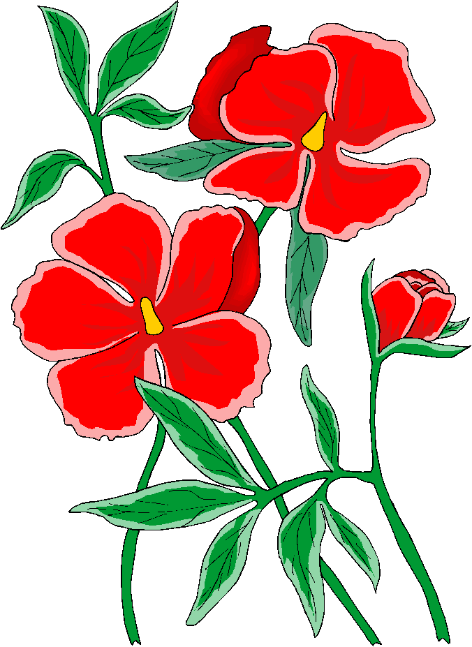 676x927 Red Flower Retro Flower Clipart Free Download Clip Art On 2