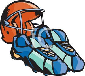 300x268 Football Helmet And Pair Of Cleats