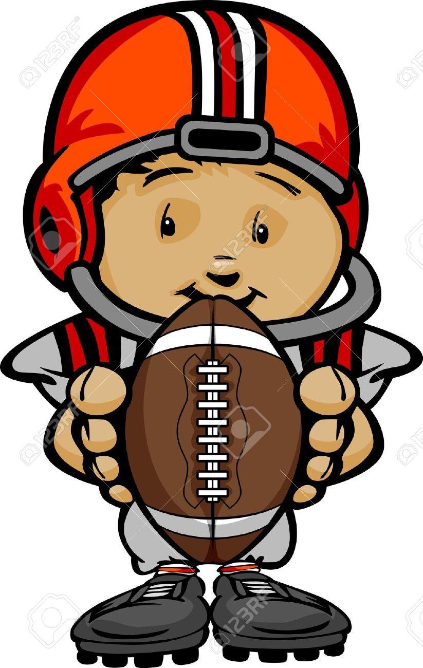 823x1300 Cartoon Clipart Football Player