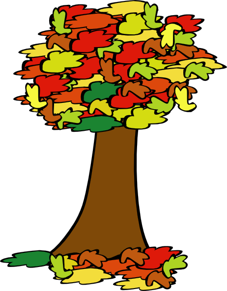 462x594 Free Fall Trees Clipart Image
