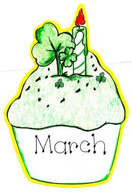260x378 Irish Clipart March Birthday