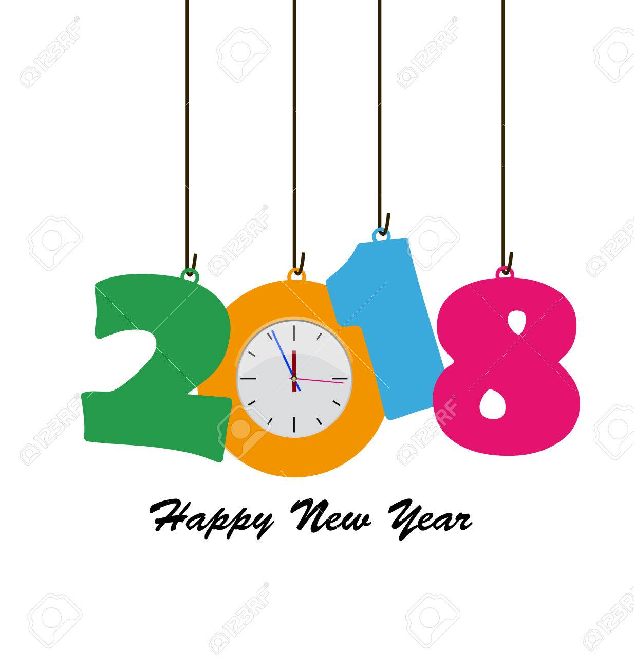1234x1300 Happy New Year 2018 Free Clip Art Merry Christmas Amp Happy New