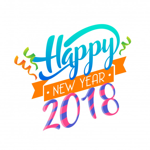 626x626 Modern Happy New Year 2018 Celebration Card Vector Free Download