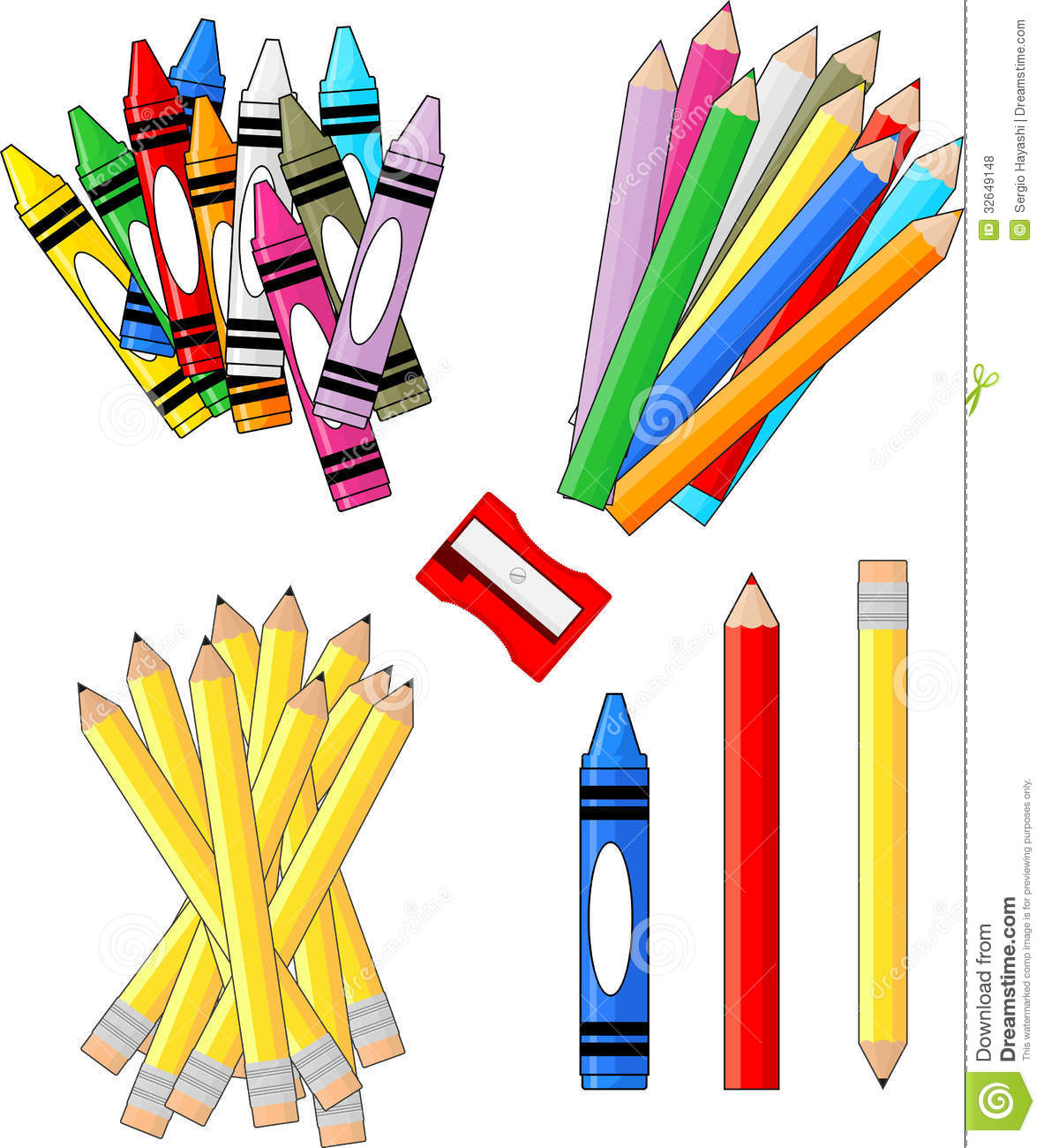 1183x1300 School Supplies Clipart Image
