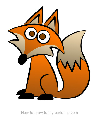 425x515 Fox Clipart Easy