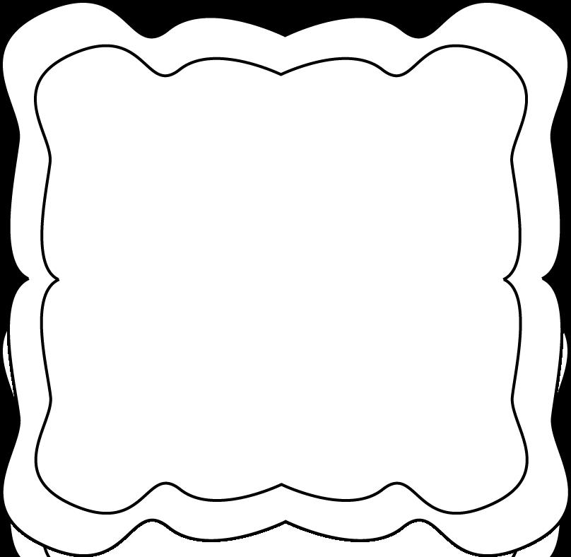 808x788 Frame Clip Art Black And White Clipart Panda