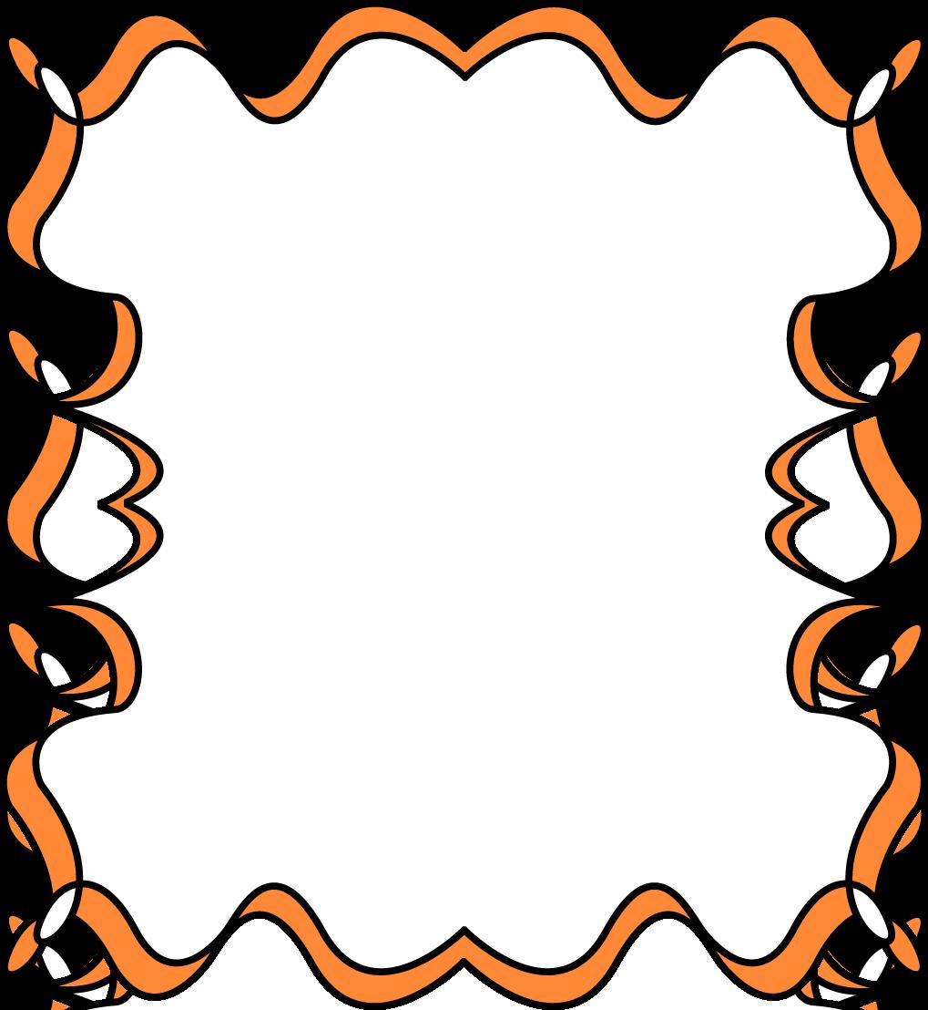 1019x1108 Orange Full Page Zig Zag Border Frame