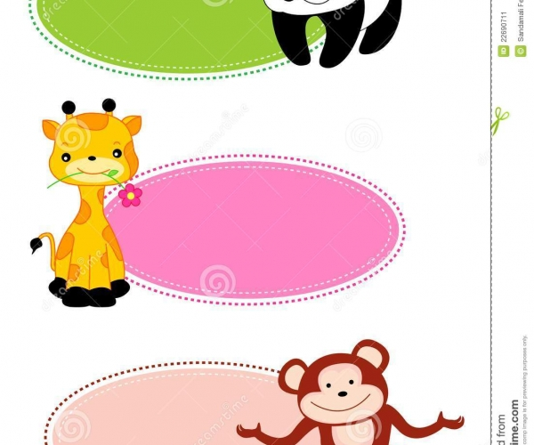 600x500 Staggering Abstract Baby Frame Design Elements Vector Frames
