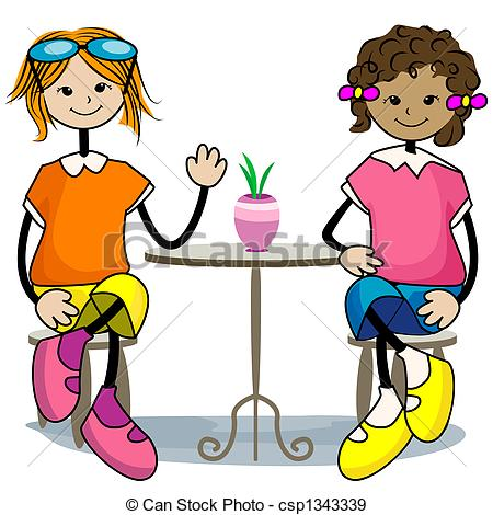 450x470 Hanging Out With Friends Clipart