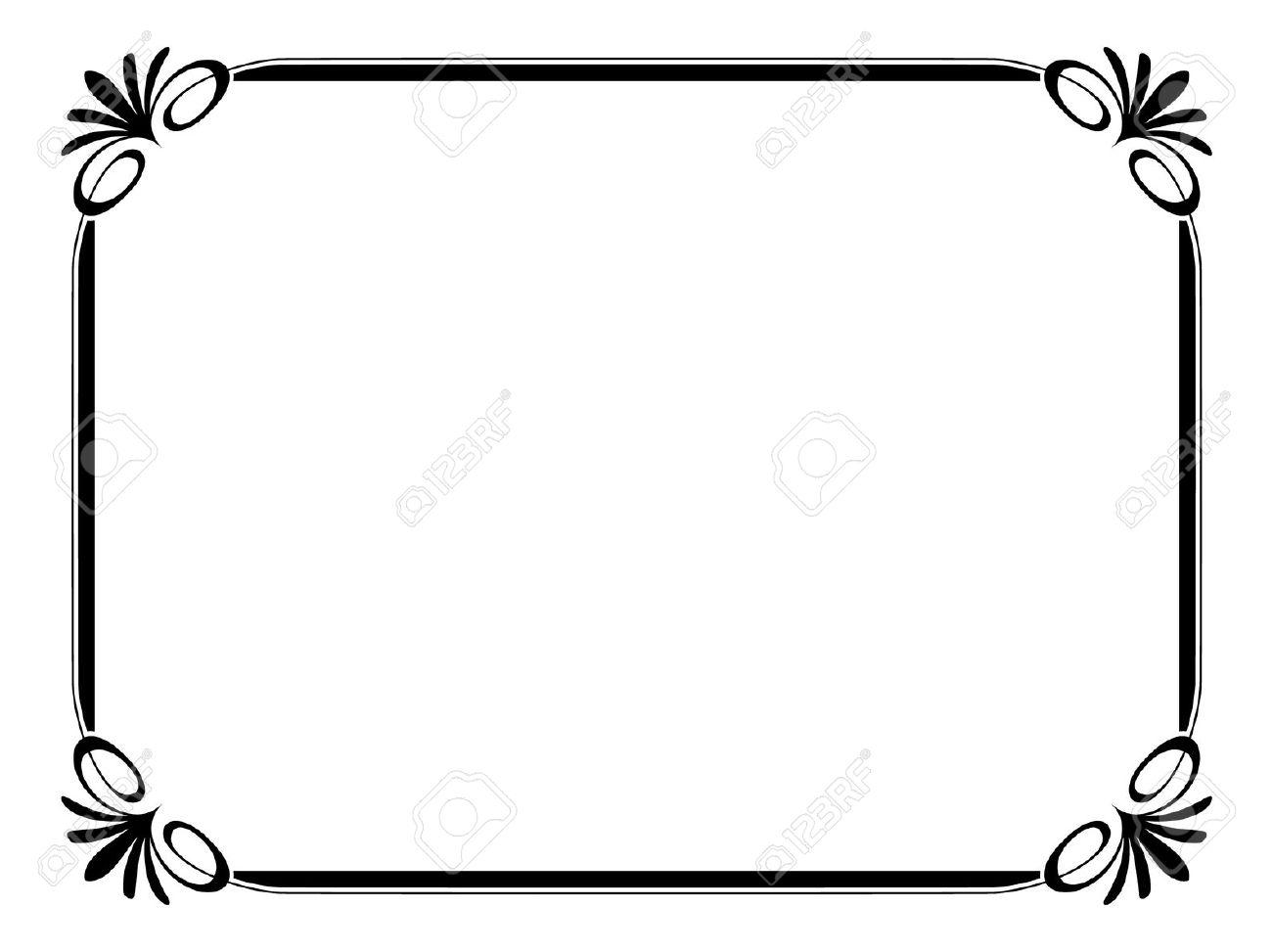 1300x973 Certificate Frames Clipart