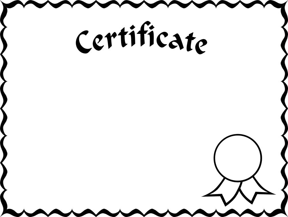 1001x756 Gift Certificate Frame Clipart