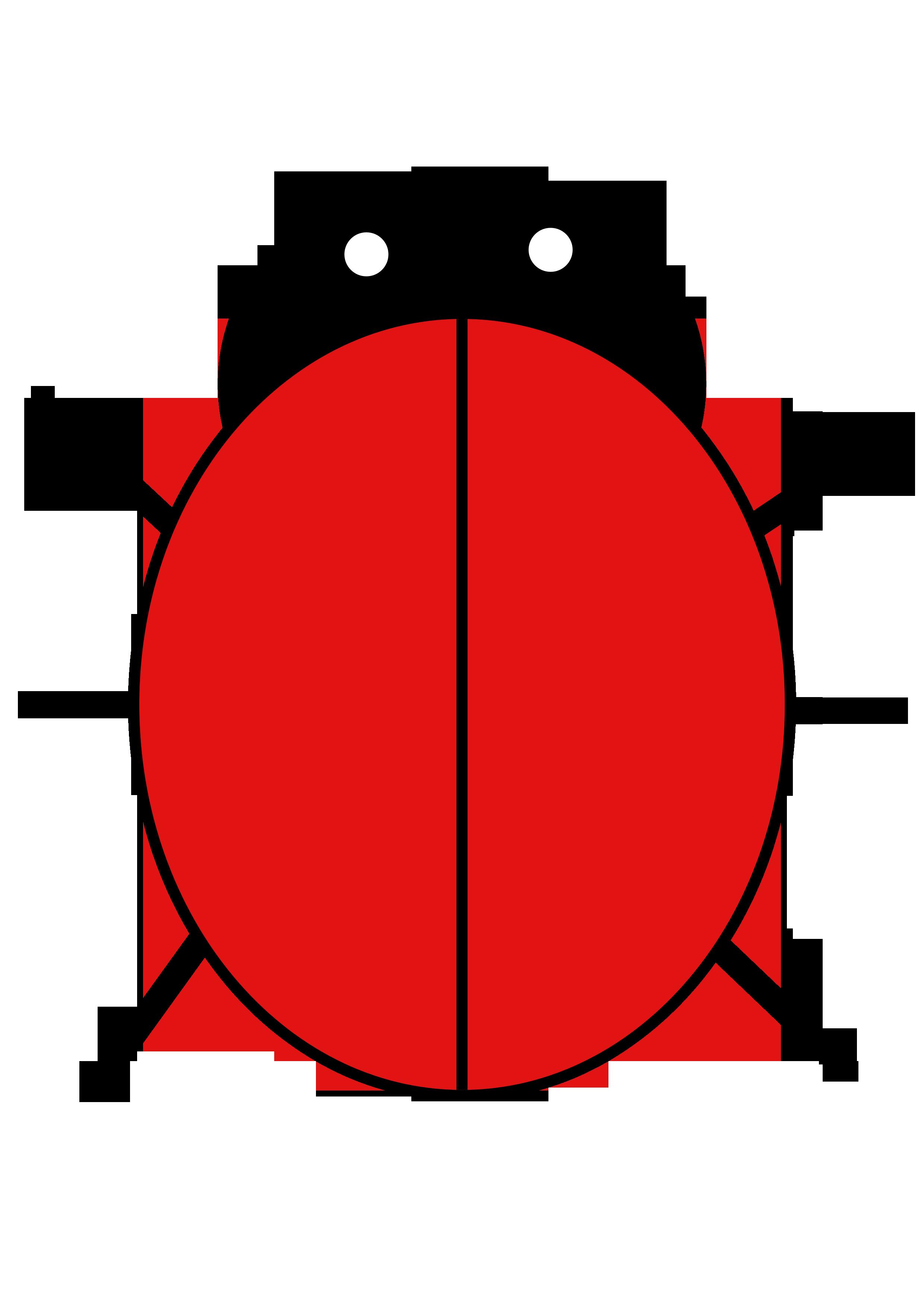 2480x3508 Templates Clipart Ladybird