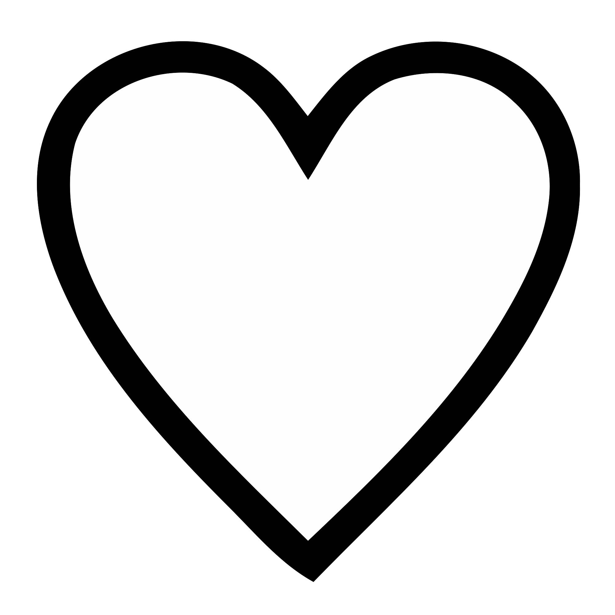 2000x2000 Editable Heart Template