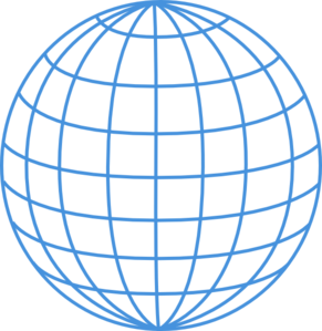 291x299 Thick Blue Wire Globe Clip Art