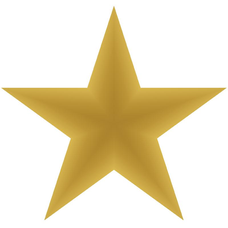 800x800 Gold Star Clipart