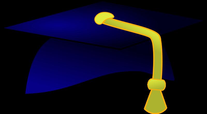 800x442 Graduation Hats Clip Art