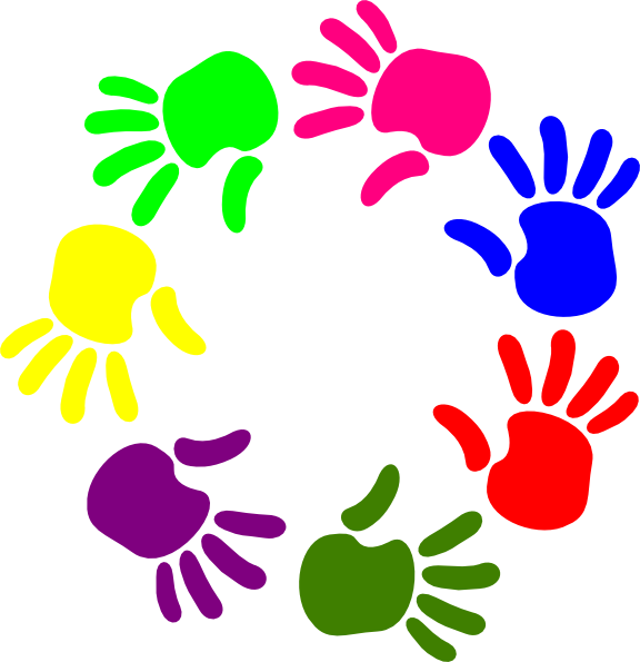 576x595 Free Helping Hands Clipart Image