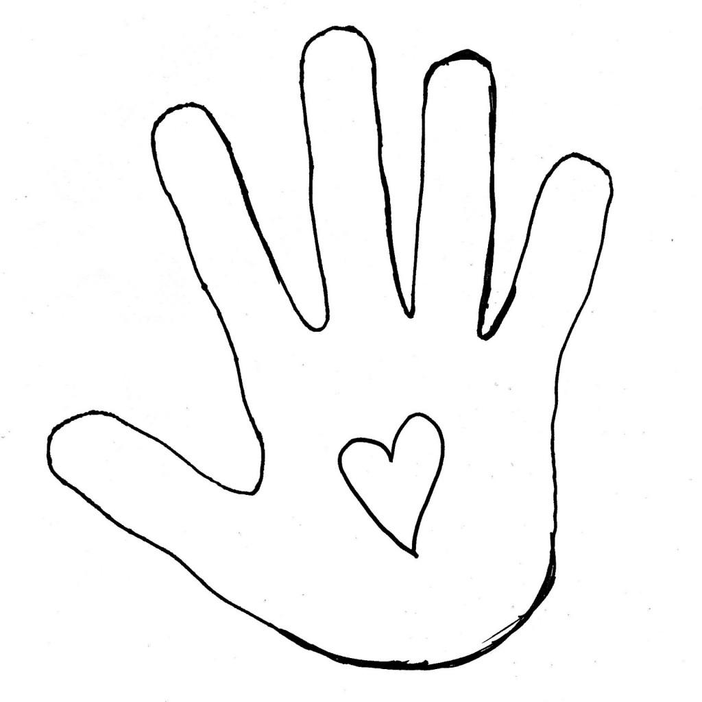 1024x1024 Hand Outline Clip Art