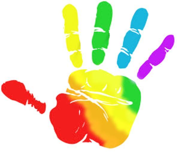 591x508 Rainbow Hands Clipart