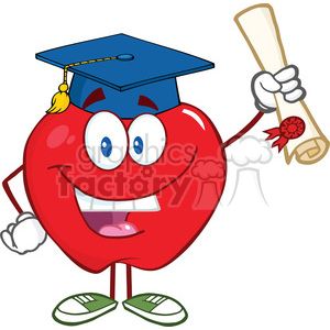 300x300 Royalty Free 5757 Royalty Free Clip Art Happy Apple Character