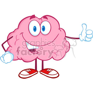 300x300 Royalty Free Royalty Free Cliprt Happy Brain Character Giving