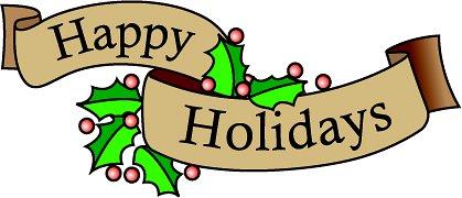 419x180 Clip Art Happy Holidays Clipart